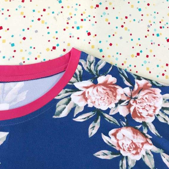 bright coral solid double brushed polyester spandex fabric