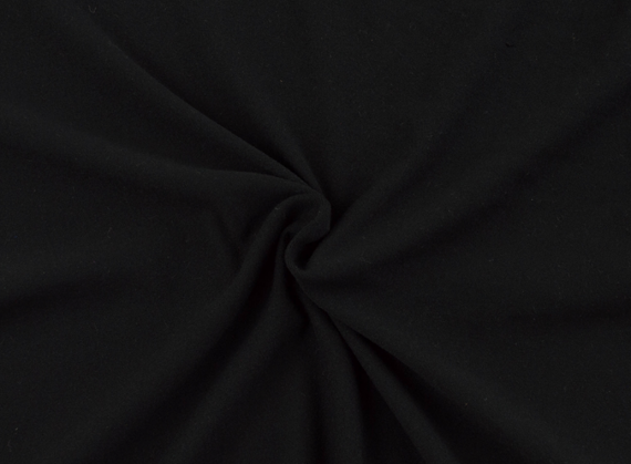 solid black double brushed polyester spandex fabric dbp