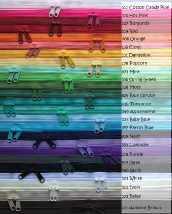 zipper color chart