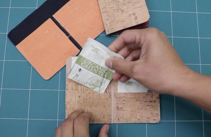 tea bag wallet video tutorial by crafty gemini
