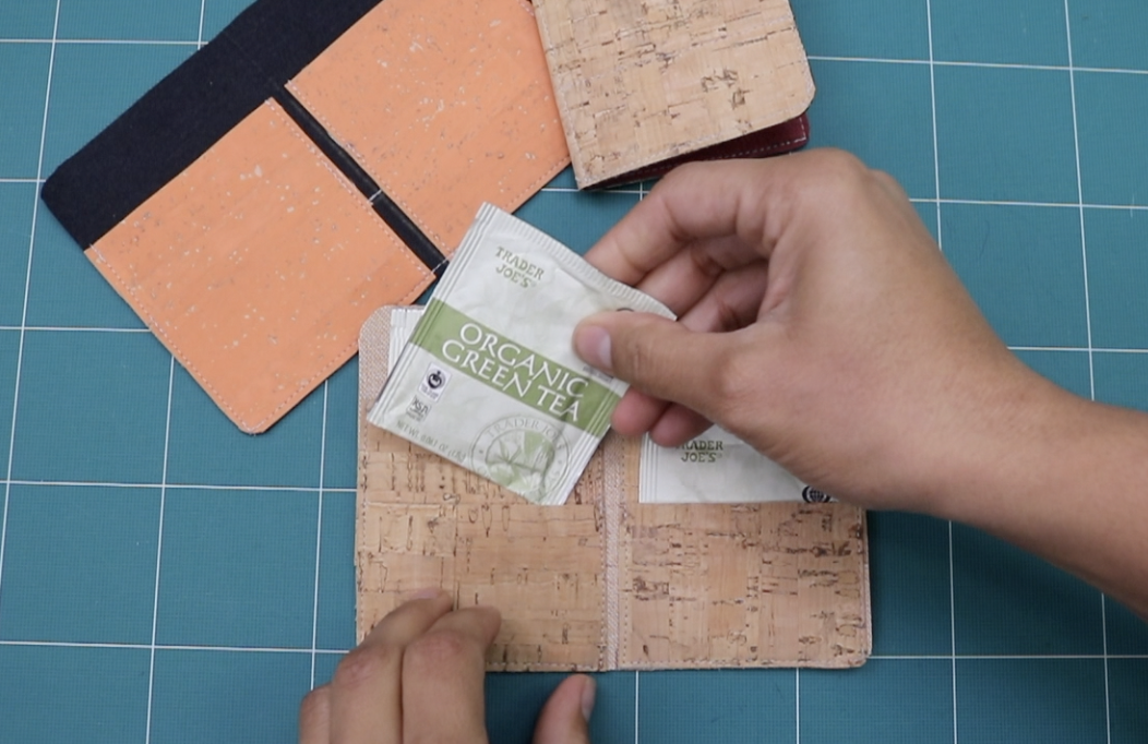 tea bag wallet video tutorial by crafty gemini