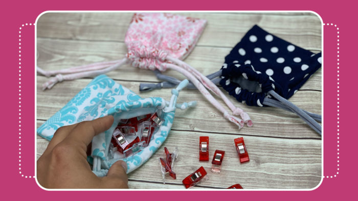 drawstring pouch quick and easy video tutorial by crafty gemini