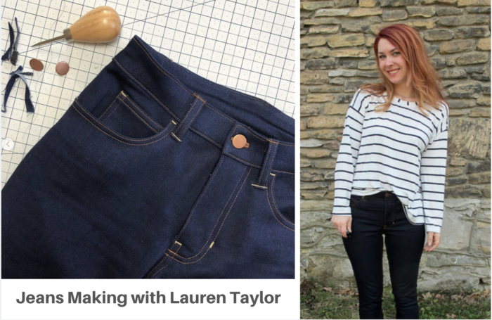 jeansmaking retreat with lladybird lauren taylor and crafty gemini