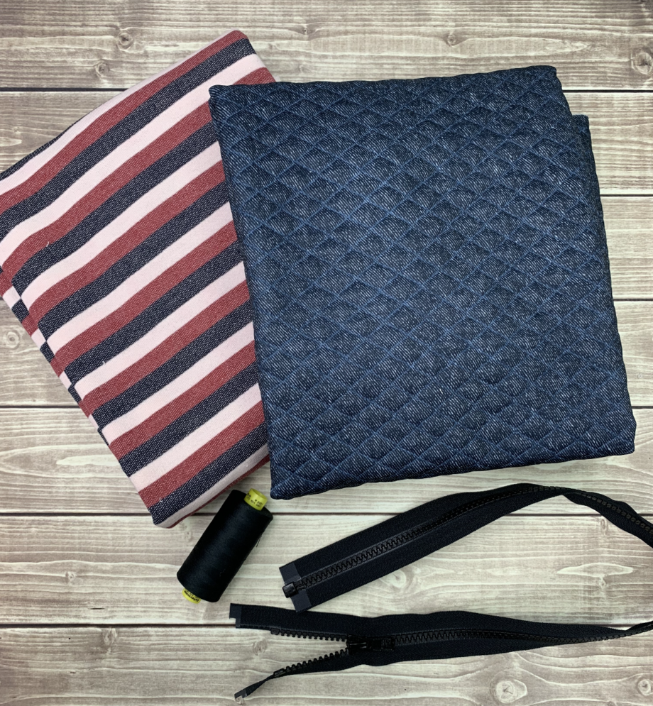 french terry quilted knit for charlie bomber jacket