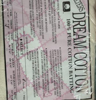 quilters dream cotton batting crafty gemini sale
