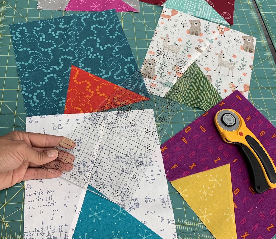 samosa quilt along by crafty gemini