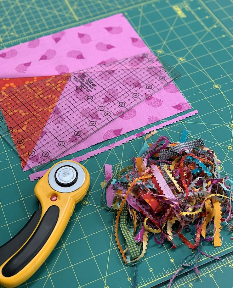 samosa quilt along with crafty gemini