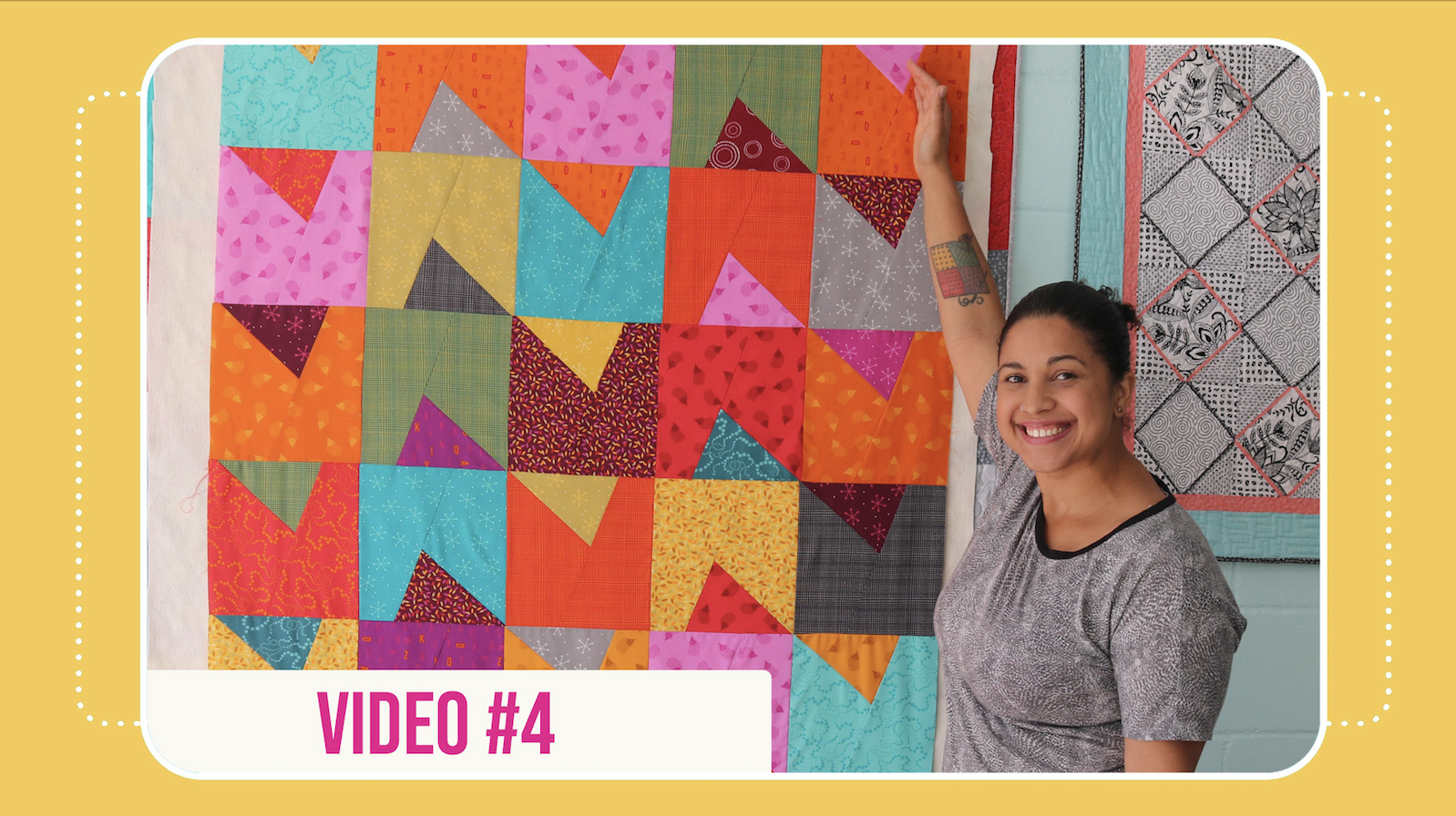 samosa quilt along video #4 by crafty gemini
