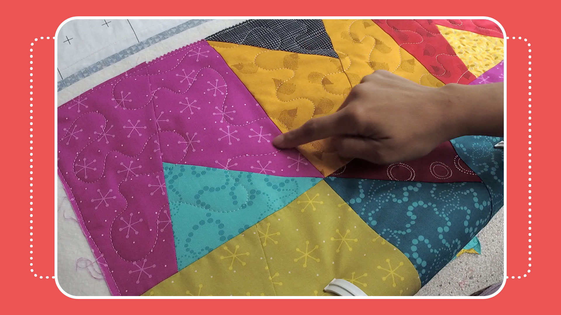 samosa quilt along video 6 free video quilt along with the crafty gemini