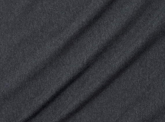 solid heathered charcoal cotton spandex jersey fabric
