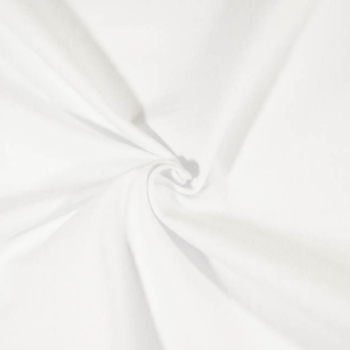 solid white cotton spandex jersey fabric