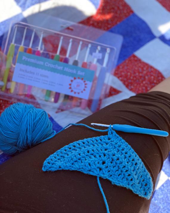 crochet hook set by crafty gemini