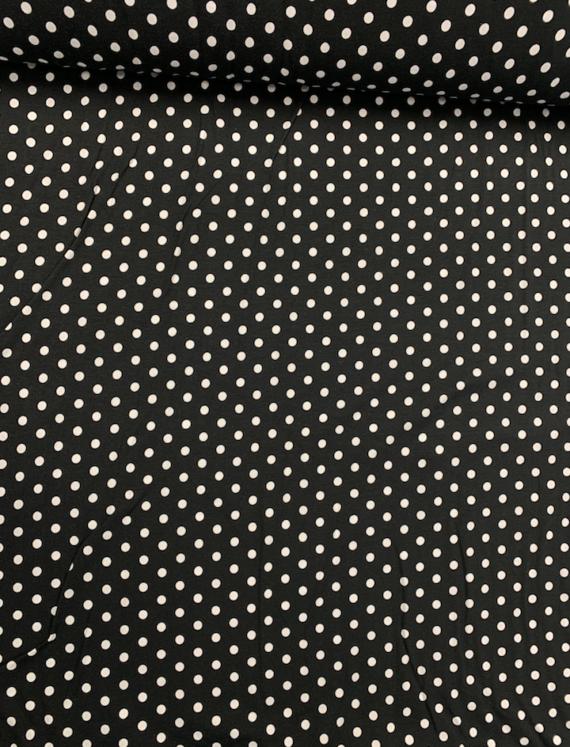 laguna jersey knit black and white polka dot