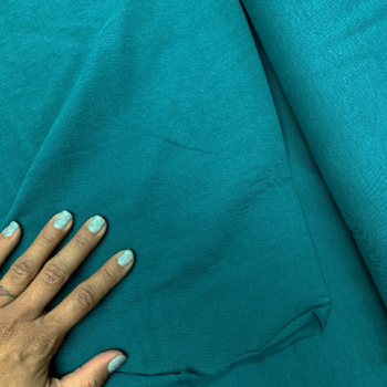 cotton spandex teal