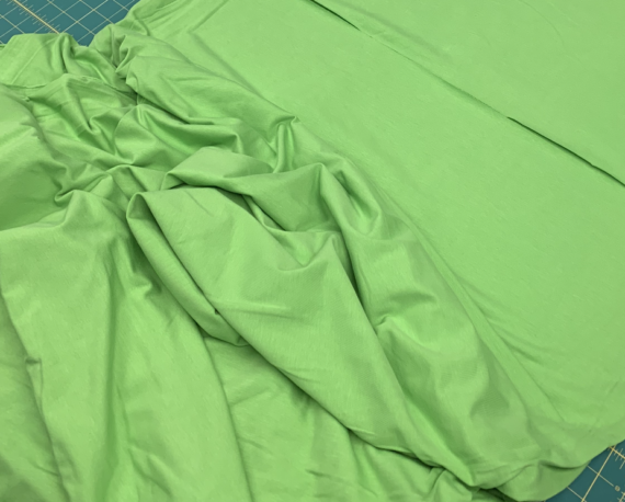 lime green cotton spandex fabric