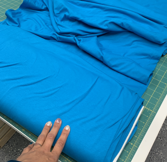 ocean blue cotton spandex fabric
