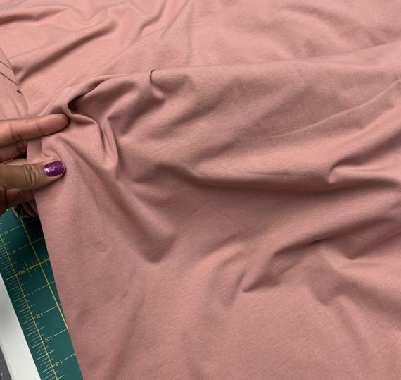 mauve cotton spandex fabric