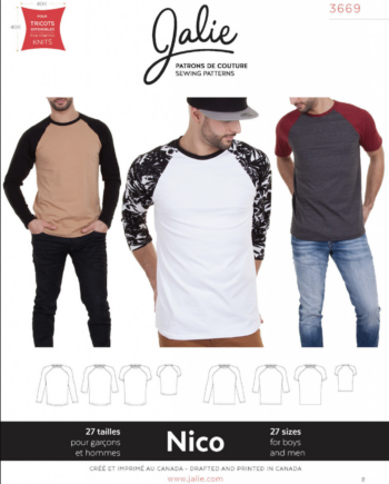 jalie 3669 nico mens boys raglan tee sewing pattern