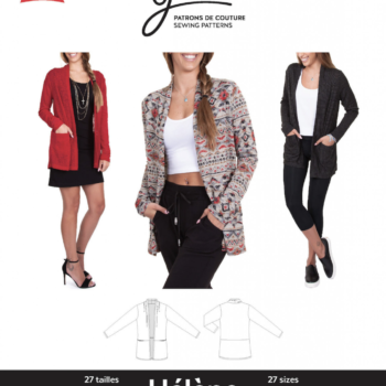jalie 3677 helene cardigan sewing pattern