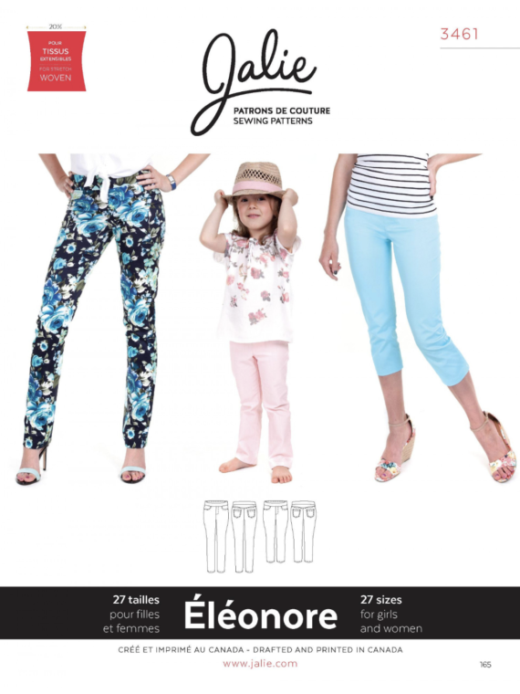 jalie 3461 eleonore pull on jeans sewing pattern