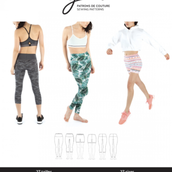 jalie 3887 clara high waisted leggings pattern