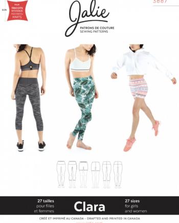 jalie 3887 clara high waisted leggings pattern