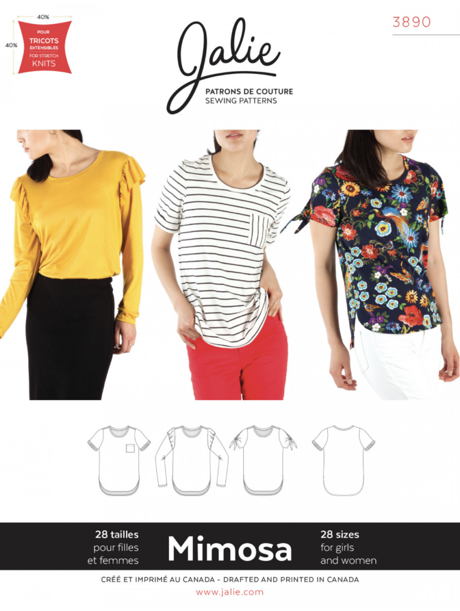 jalie 3890 mimosa scoopneck t-shirt sewing pattern