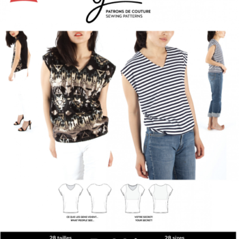 jalie bobbie 3880 v-neck t-shirt sewing pattern