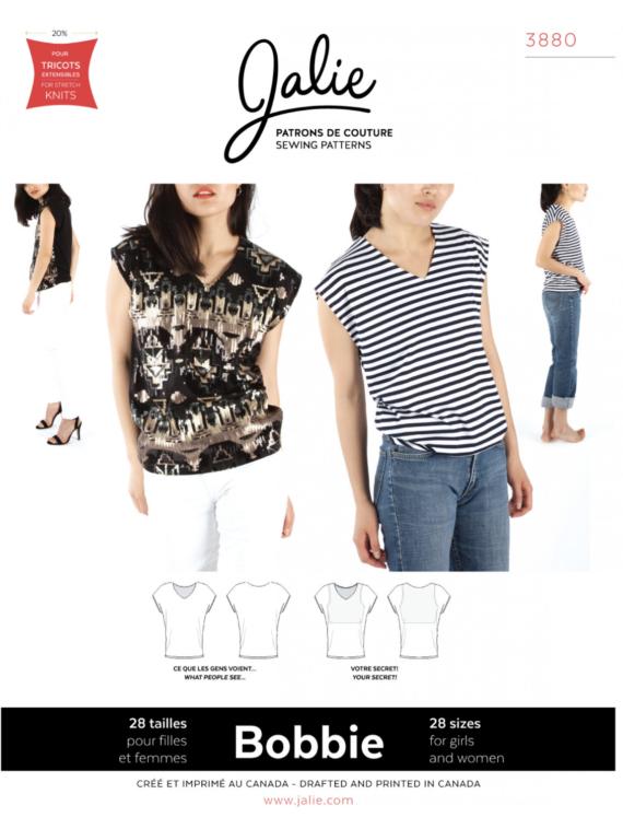 jalie bobbie 3880 v-neck t-shirt sewing pattern
