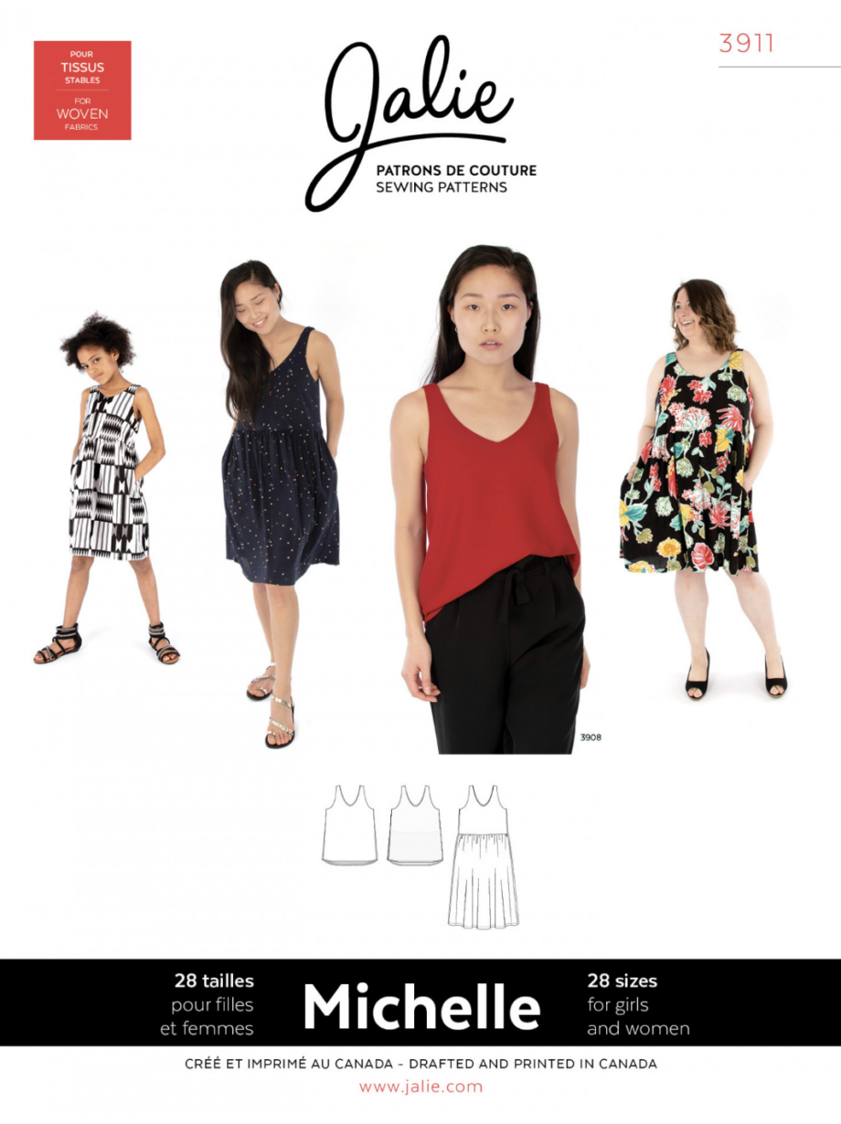 jalie 3911- michelle and dress sewing pattern