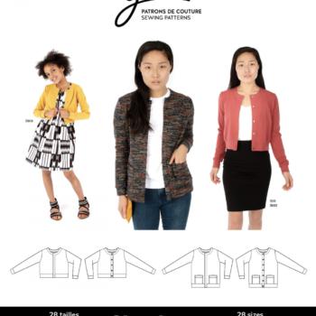 jalie 3900 charlotte cardigan sewing pattern