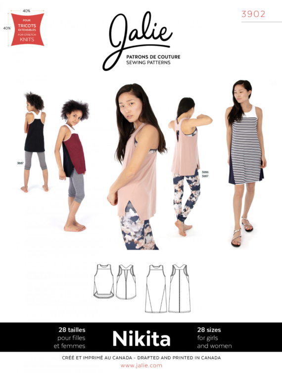 jalie 3902 nikita tank and swing dress sewing pattern