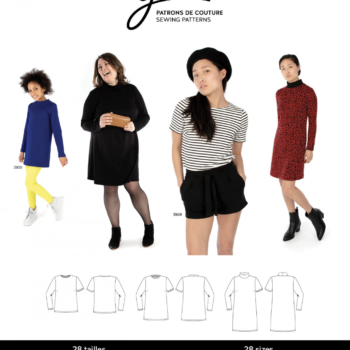 jalie 3903 nicole shift dress, tunic and Tee sewing pattern