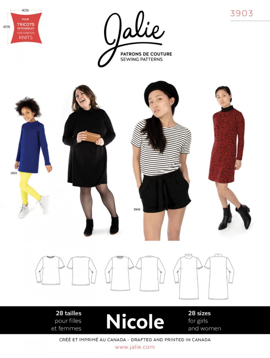 jalie 3903 nicole shift dress, tunic and Tee sewing pattern