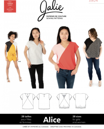 jalie 3904 alice v-neck blouse sewing pattern