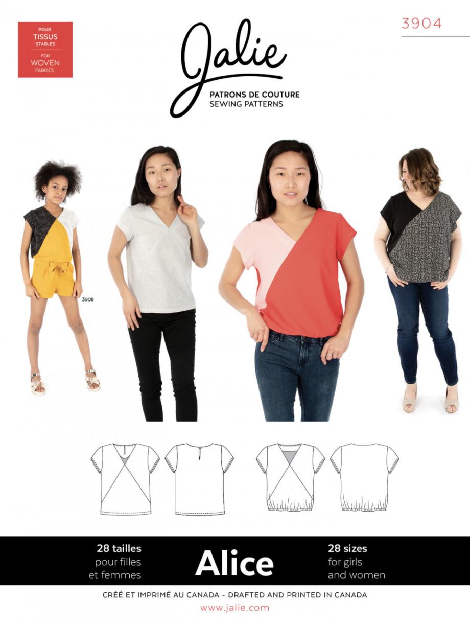 jalie 3904 alice v-neck blouse sewing pattern