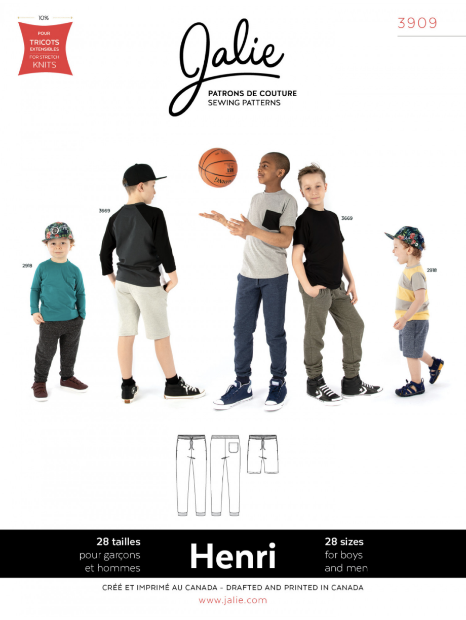 jalie 3909 henri joggers and shorts sewing pattern