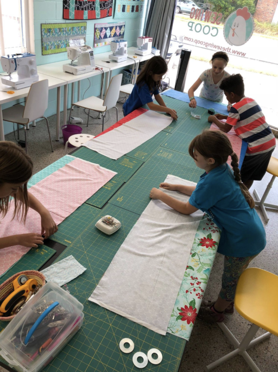 kids sewing camp at crafty gemini shop & studio in gaiensville fl