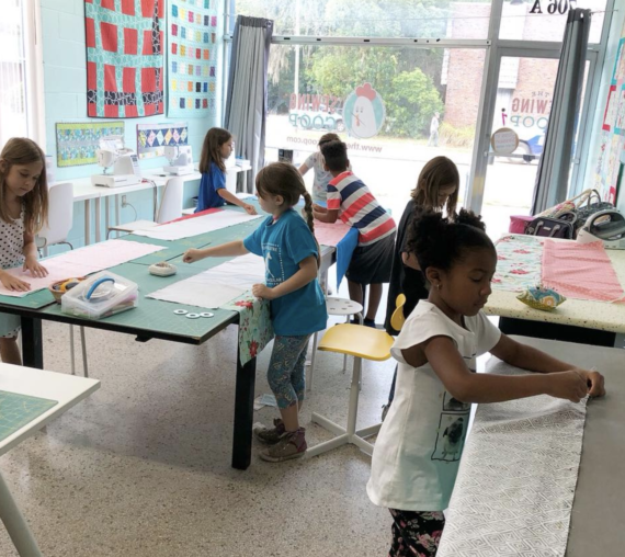 kids sewing class with crafty gemini