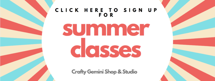 crafty gemini shop & studio summer 2019 classes for kids and adults in gainesville fl