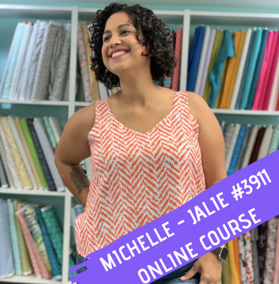 jalie michelle #3911 sewing pattern online class by crafty gemini