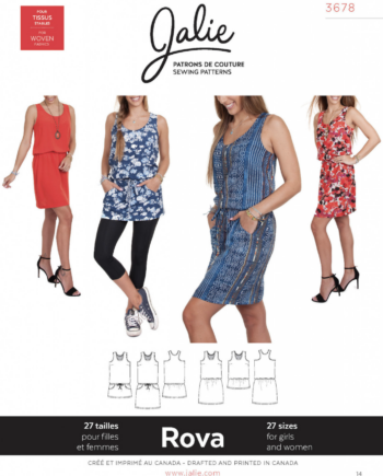 jalie 3678 ROVA Blouson Tank Dress and Tunic