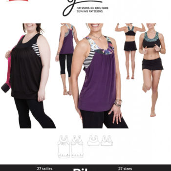 jalie 3679 PIKA Sport Bra and Layered Blouson Tank