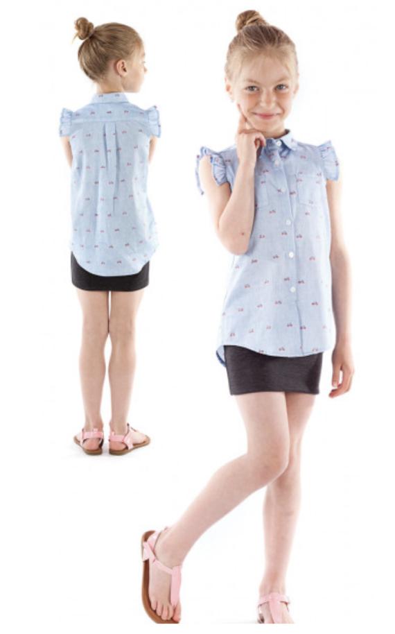 jalie 3881 ROSE Sleeveless Button-Down Shirt