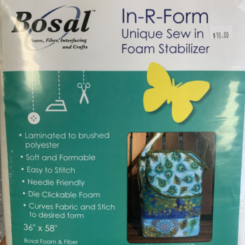 "foam interfacing in-r-form bosal 36"" x 58"""