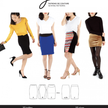jalie 3883 lisette pull on pencil skirt pattern