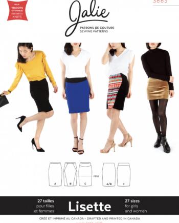 jalie 3883 lisette pull on pencil skirt pattern