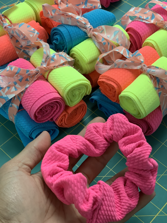 scrunchie fabric kit by crafty gemini