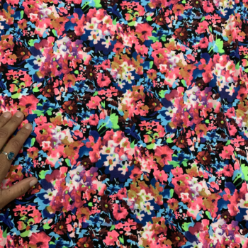 neon floral dbp fabric
