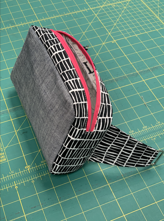 boxy hip pouch pdf pattern and video course by crafty gemini